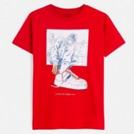 Koszulka sportowa chłopięca Mayoral 6056-21 Czerwony