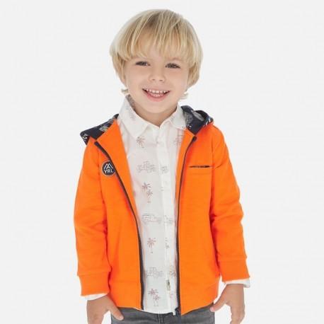 Bluza z kapturem dla chłopca Mayoral 3448-43 Pomarańczowy
