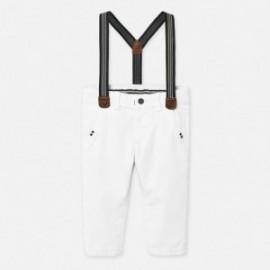 Spodnie chinos z szelkami chłopięce Mayoral 1545-76 Biały