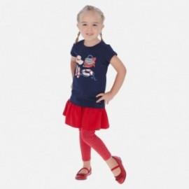Leginsy ze spódniczką dla dziewczynki Mayoral 3717-35 Czerwony