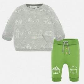 Komplet bluza i spodnie chłopięcy Mayoral 1539-40 Zielony