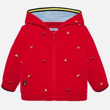 Bluza z kapturem dla chłopca Mayoral 1459-66 Czerwony
