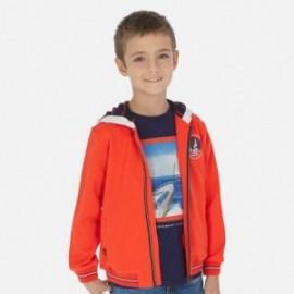 Bluza z kapturem chłopięca Mayoral 6444-60 Pomarańczowy