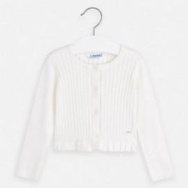 Sweter rozpinany dziewczęcy Mayoral 3320-75 Kremowy