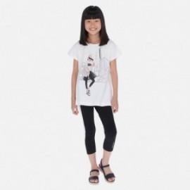 Komplet bluzka i leginsy dla dziewczyny Mayoral 6719-17 Czarny