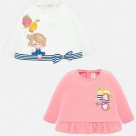 Komplet koszulek dla dziewczynki Mayoral 1035-89 Różowy