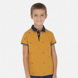 Koszulka polo z nadrukiem chłopięca Mayoral 6138-42 Brązowy