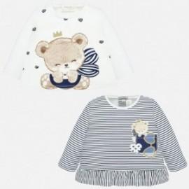 Komplet koszulek dla dziewczynki Mayoral 1035-90 Granatowy