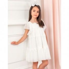 Sukienka elegancka dla dziewczynki Abel & Lula 5003-25 biała