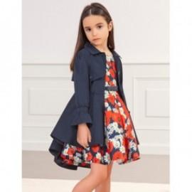 Płaszcz elegancki dla dziewczynek Abel & Lula 5318-92 granat
