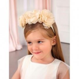 Elegancka opaska kwiatki dziewczynka Abel & Lula 5425-48 krem