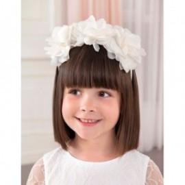 Elegancka opaska kwiatki dziewczynka Abel & Lula 5425-49 biały