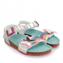 Sandały dziewczęce Agata Ruiz De La Prada 202989 srebrne