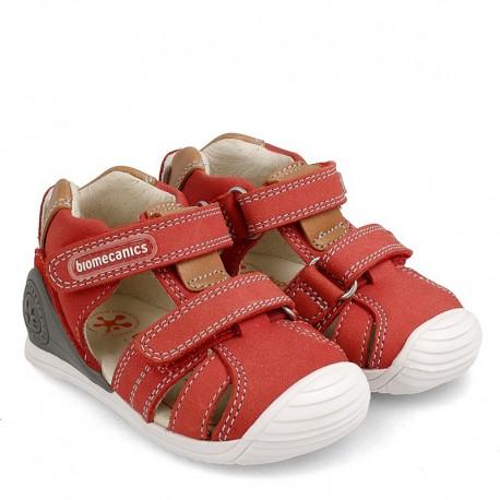 Sandały chłopięce Biomecanics 202144 czerwone