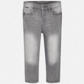 Spodnie jeansowe chłopięce Mayoral 40-76 Szary