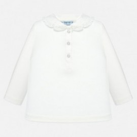 Koszulka polo dla dziewczynki Mayoral 104-55 Kremowy