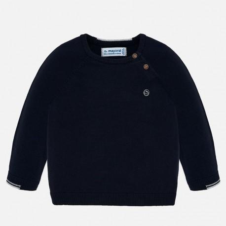 Sweter bawełniany dla chłopca Mayoral 309-89 Granatowy