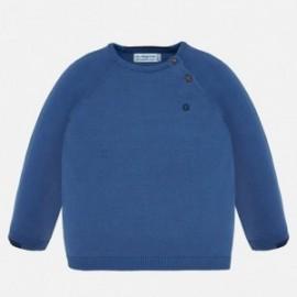 Sweter bawełniany dla chłopca Mayoral 309-86 Niebieski