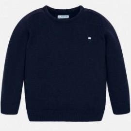 Sweter z lamówką chłopięcy Mayoral 311-22 Granatowy