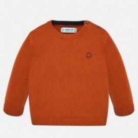 Sweter z lamówką chłopięcy Mayoral 351-28 Pomarańczowy