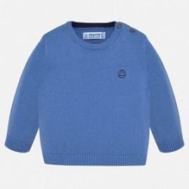 Sweter z lamówką chłopięcy Mayoral 351-29 Niebieski