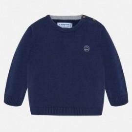 Sweter z lamówką chłopięcy Mayoral 351-27 Granatowy