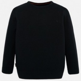 Sweter bawełniany chłopięcy Mayoral 354-47 Czarny