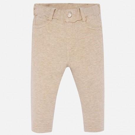 Spodnie bawełniane dla dziewczynki Mayoral 560-40 Brązowy