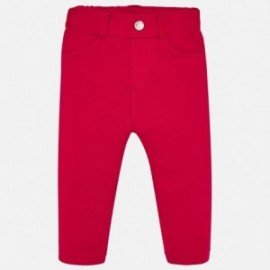 Spodnie bawełniane dla dziewczynki Mayoral 560-41 Czerwony