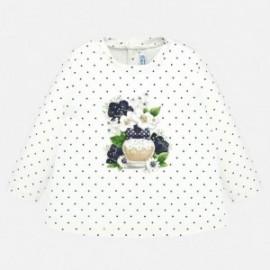 Koszulka w groszki dla dziewczynki Mayoral 2009-33 Granatowy