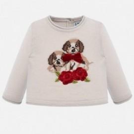 Sweter z haftem dla dziewczynki Mayoral 2312-64 Beżowy