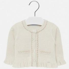 Sweter rozpinany z falbankami dla dziewczynki Mayoral 2315-33 Beżowy