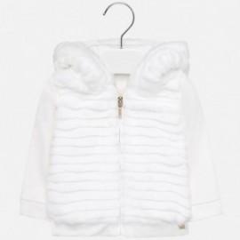 Bluza z futerkiem dziewczęca Mayoral 2437-89 Kremowy