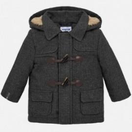 Płaszcz z futerkiem chłopięcy Mayoral 2453-48 Szary