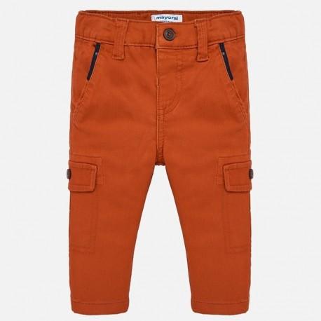 Spodnie z kieszeniami chłopięce Mayoral 2540-90 Pomarańczowy