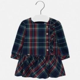 Sukienka w kratkę dla dziewczynki Mayoral 2926-16 Granatowy