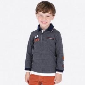 Koszulka polo dla chłopca Mayoral 4109-14 Szary