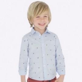 Koszula we wzorki dla chłopca Mayoral 4119-19 Błękitny