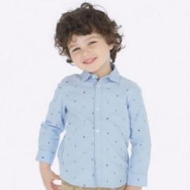 Koszula we wzory dla chłopców Mayoral 4123-19 Błękitny