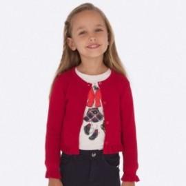 Sweter dzianinowy dla dziewczynki Mayoral 4305-59 Czerwony