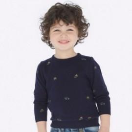 Sweter z haftami dla chłopca Mayoral 4316-80 granat