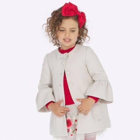 Płaszcz elegancki na guziki dziewczęcy Mayoral 4412-28 beż