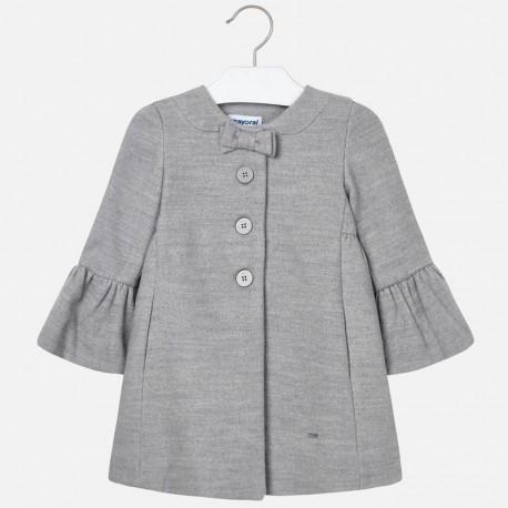 Płaszcz elegancki na guziki dziewczęcy Mayoral 4412-30 szary
