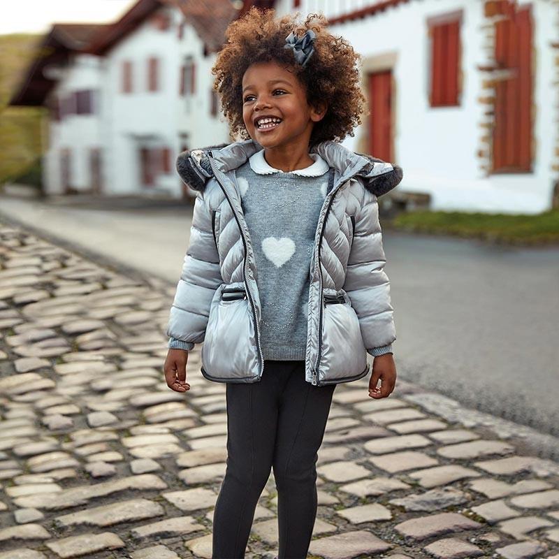 Spodnie dzianinowe dla dziewczynek Mayoral 4501-36 Czarny