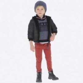 Spodnie chinos dla chłopca Mayoral 4516-87 Bordowy