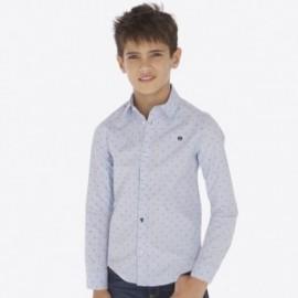 Koszula z długim rękawem żakardowa chłopięca Mayoral 7116-21 Błękitny