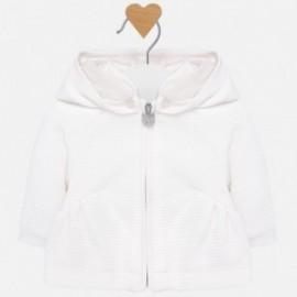 Bluza z kapturem ocieplana dla dziewczynki Mayoral 2411-30 Kremowy