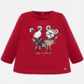 Bluza dzianinowa dla dziewczynki Mayoral 2420-63 Czerwony