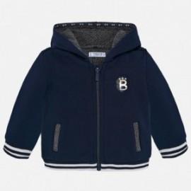 Bluza bawełniana z kapturem z aplikacjami dla chłopca Mayoral 2456-56 Granatowy