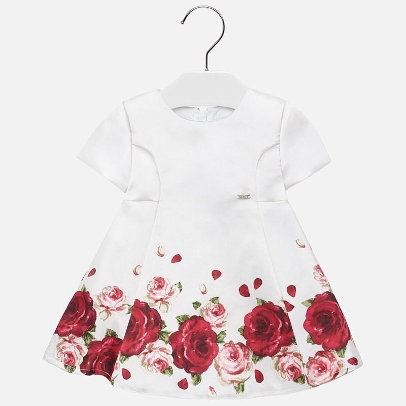 Sukienka z nadrukiem dziewczęca Mayoral 2918-60 Czerwony